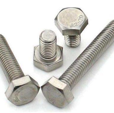 DIN933 hex bolt A2 70 فولاد ضد زنگ 304 و 316