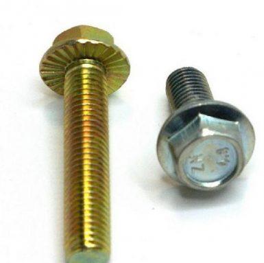 پیچ فلنج DIN 6921 hex flange 8.8 درجه روکش شده